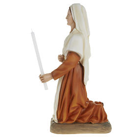Saint Bernadette statue, 63cm in painted reconstituted marble s4