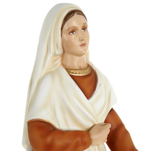 Saint Bernadette statue, 63cm in painted reconstituted marble 7
