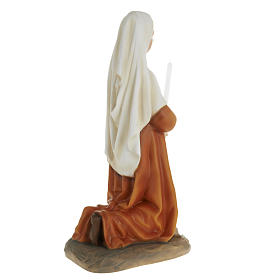 Saint Bernadette statue, 63cm in painted composite marble s6