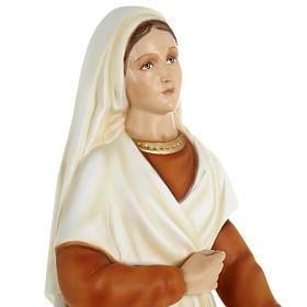 Saint Bernadette statue, 63cm in painted composite marble s7