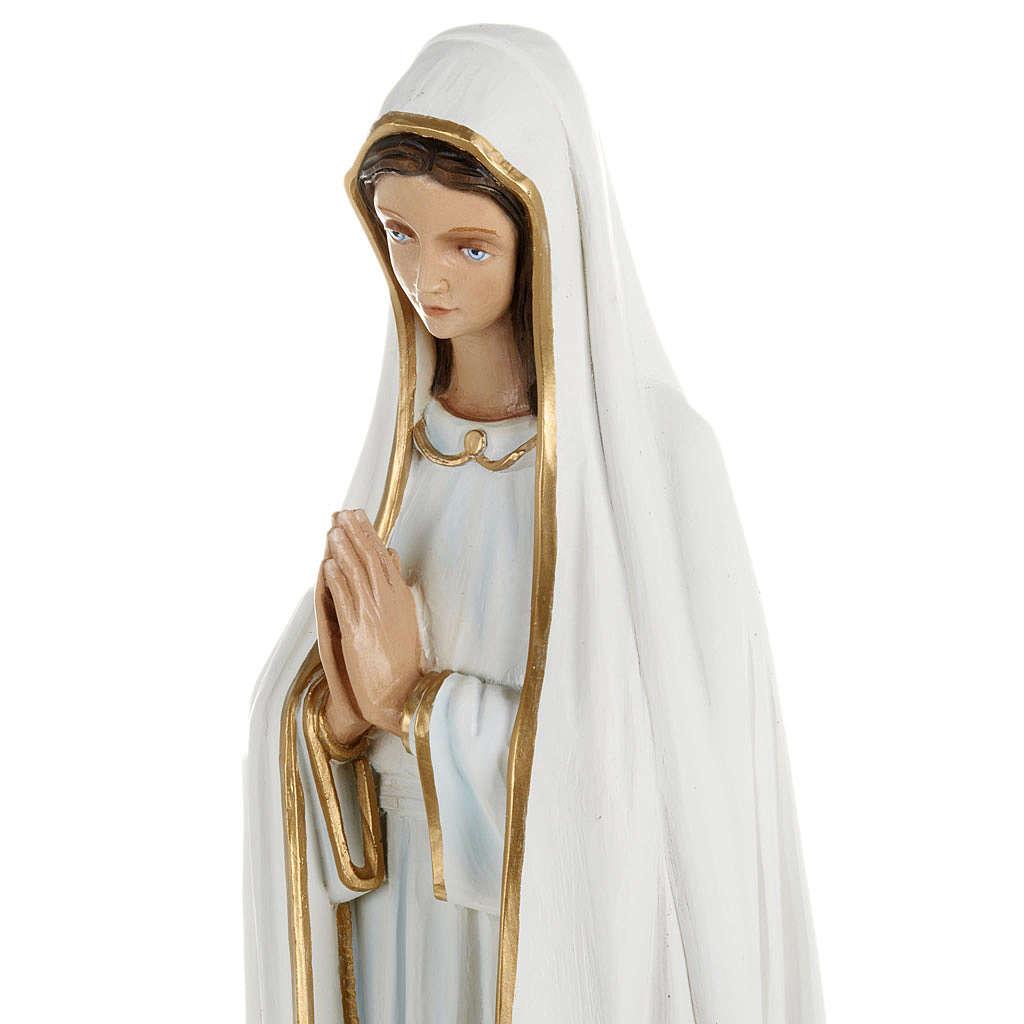 Statua Madonna Fatima 60 cm polvere di marmo dipinta 4