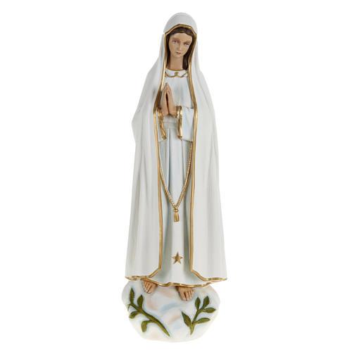 Statua Madonna Fatima 60 cm polvere di marmo dipinta 1