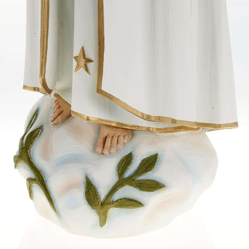Our Lady of Fatima statue, painted composite marble 23.5 inc 4