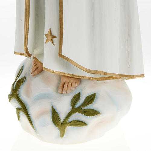 Our Lady of Fatima statue, painted composite marble 23.5 inc 3