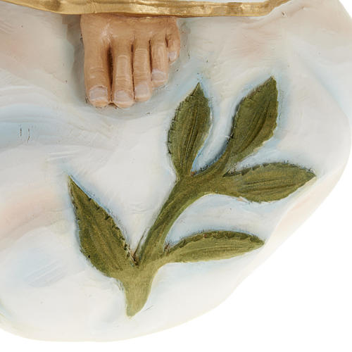 Our Lady of Fatima statue, painted composite marble 23.5 inc 7