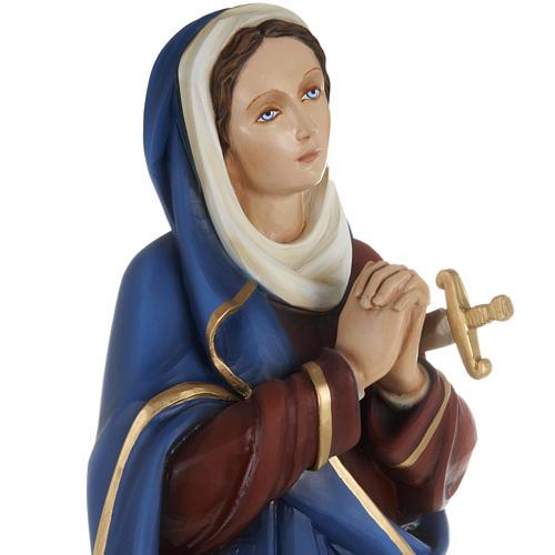 Statue Notre-Dame des douleurs marbre 80cm peinte