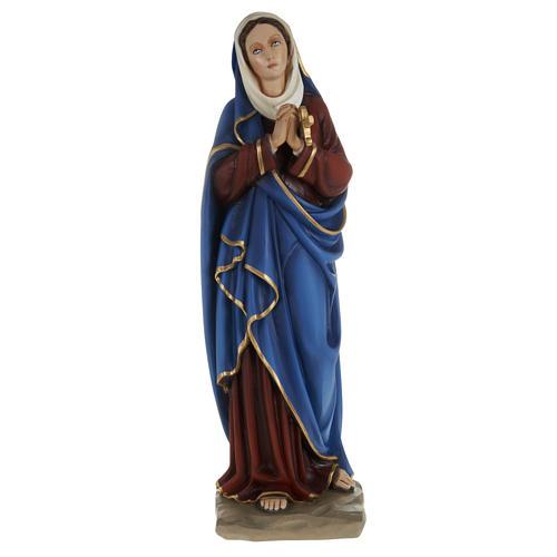 Statua Addolorata mani giunte 80 cm polvere di marmo dipinta