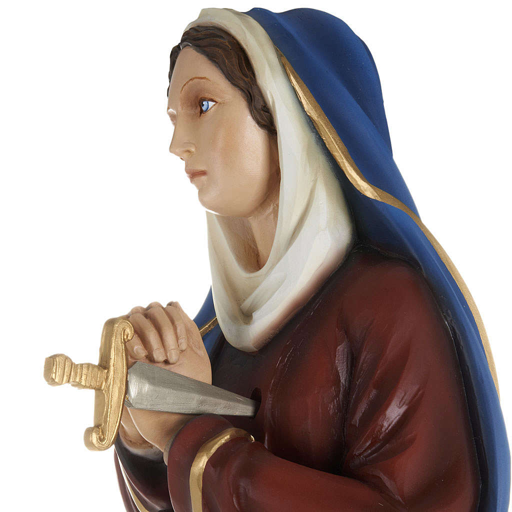 Our Lady of Sorrows statue with joined hands, 80cm in painted re 4