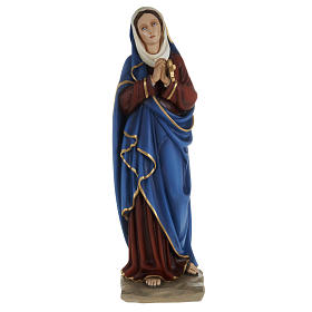 Our Lady of Sorrows statue with joined hands, 80cm in painted re s1