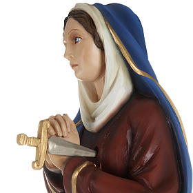 Our Lady of Sorrows statue with joined hands, 80cm in painted re s3