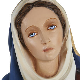 Our Lady of Sorrows statue with joined hands, 80cm in painted re s4