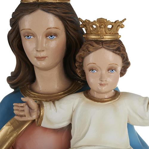 Statua Maria Regina con bambino 80cm marmo ricostituito colorato 2
