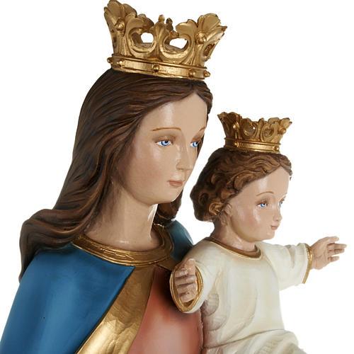 Statua Maria Regina con bambino 80cm marmo ricostituito colorato 6