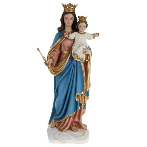 Mary Queen of Heaven statue with Baby Jesus, 80cm in painted rec 1