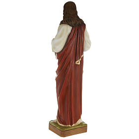 Sacred Heart of Jesus statue, 80cm in painted reconstituted marb s5