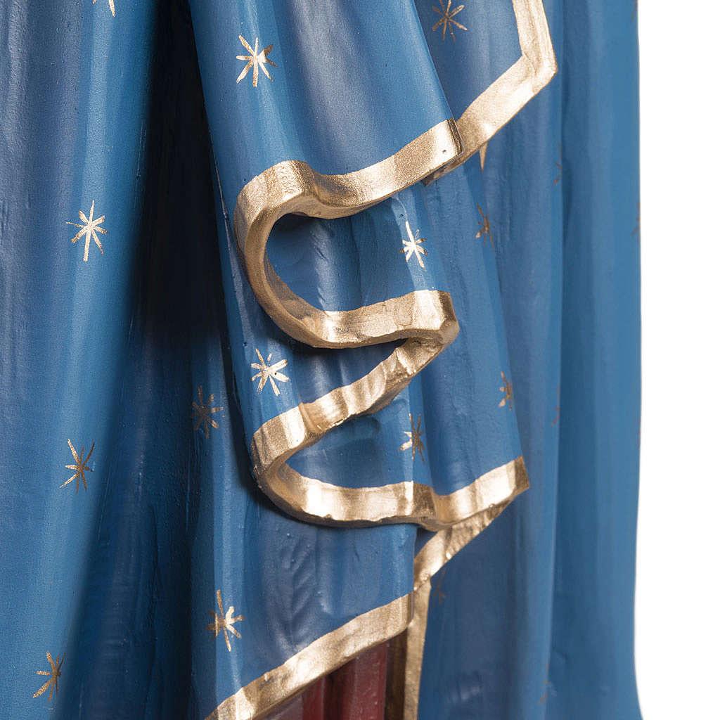 Madonna con bimbo manto blu rosso 85 cm marmo sintetico dipinto 4