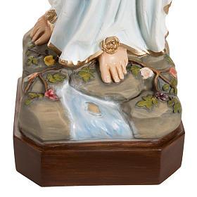 Nossa Senhora Lourdes 130 cm mármore sintético colorido