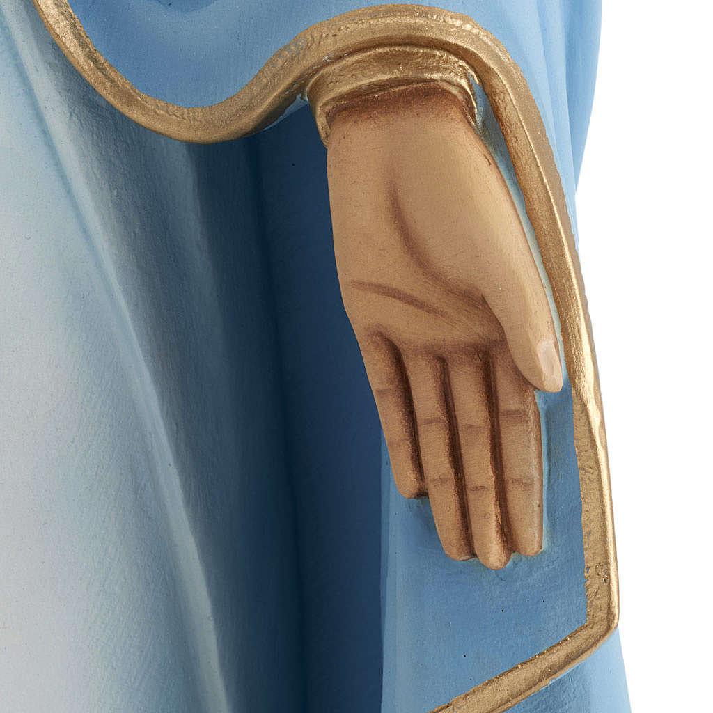 Madonna Miracolosa 80 cm marmo sintetico dipinto 4