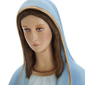 Madonna Miracolosa 80 cm marmo sintetico dipinto s5