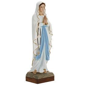 Estatua de la Virgen de Lourdes 85 cm de mármol sintético pintado s2