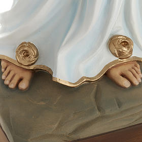 Our Lady of Lourdes statue, 85cm in painted reconstituted marble s4