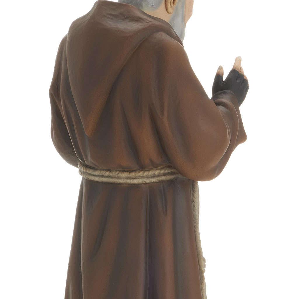 Padre Pio 60 cm marmo sintetico dipinto 4