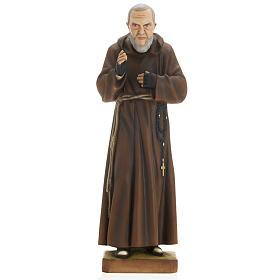Padre Pio 60 cm marmo sintetico dipinto s1