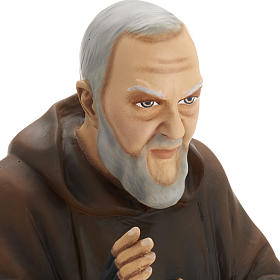 Padre Pio 60 cm marmo sintetico dipinto s3