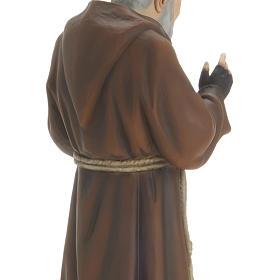 Padre Pio 60 cm marmo sintetico dipinto s4