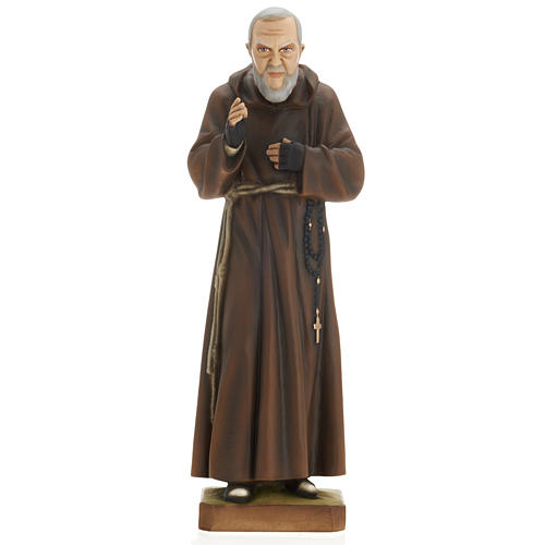 Padre Pio 60 cm marmo sintetico dipinto 1