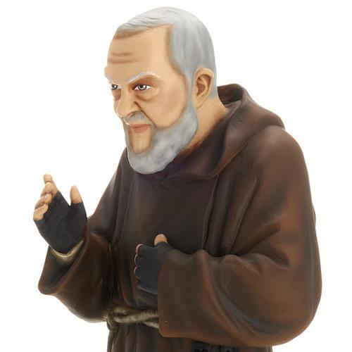 Padre Pio 60 cm marmo sintetico dipinto 2