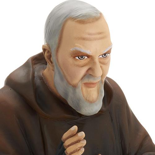 Padre Pio 60 cm marmo sintetico dipinto 3