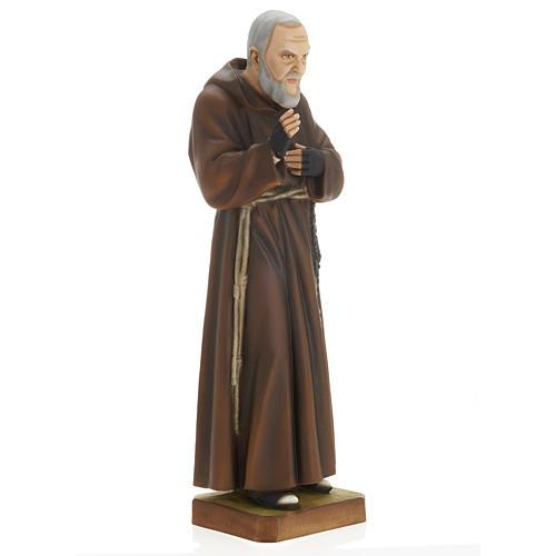 Padre Pio 60 cm marmo sintetico dipinto 6