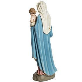 Madonna con Bambino 60 cm marmo sintetico dipinto s7