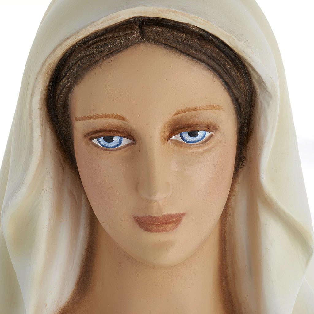 Statue Vierge Immaculée marbre 100cm peinte 4