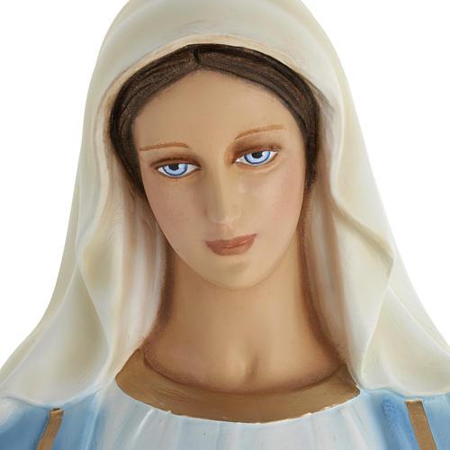Statue Vierge Immaculée marbre 100cm peinte 2