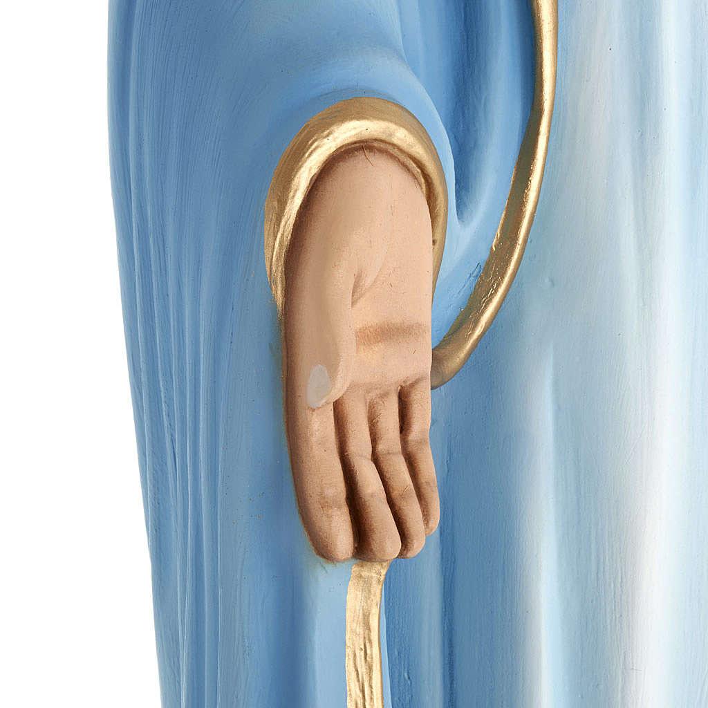 Statua Madonna Immacolata 100 cm marmo sintetico dipinto 4