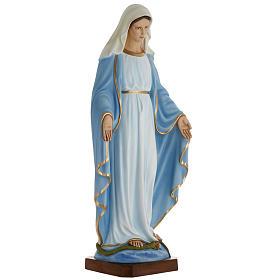 Statua Madonna Immacolata 100 cm marmo sintetico dipinto s3