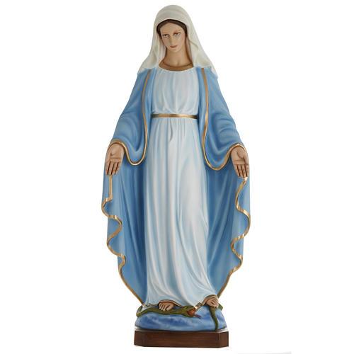 Statua Madonna Immacolata 100 cm marmo sintetico dipinto 1