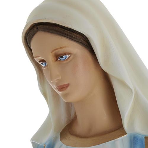 Statua Madonna Immacolata 100 cm marmo sintetico dipinto 6