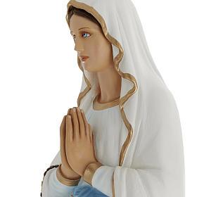 Estatua Virgen de Lourdes 100 cm de mármol sintético pintado s5
