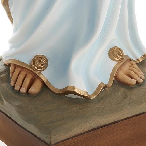 Estatua Virgen de Lourdes 100 cm de mármol sintético pintado 3