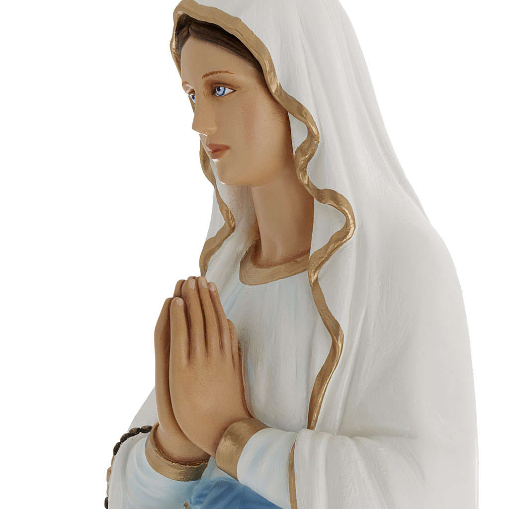 Statua Madonna Lourdes 100 cm marmo sintetico dipinto 4