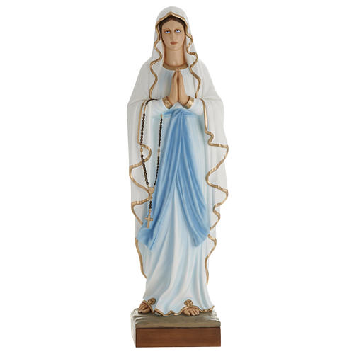 Statua Madonna Lourdes 100 cm marmo sintetico dipinto 1