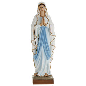 Our Lady of Lourdes, 100cm statue in painted reconstituted marble s1