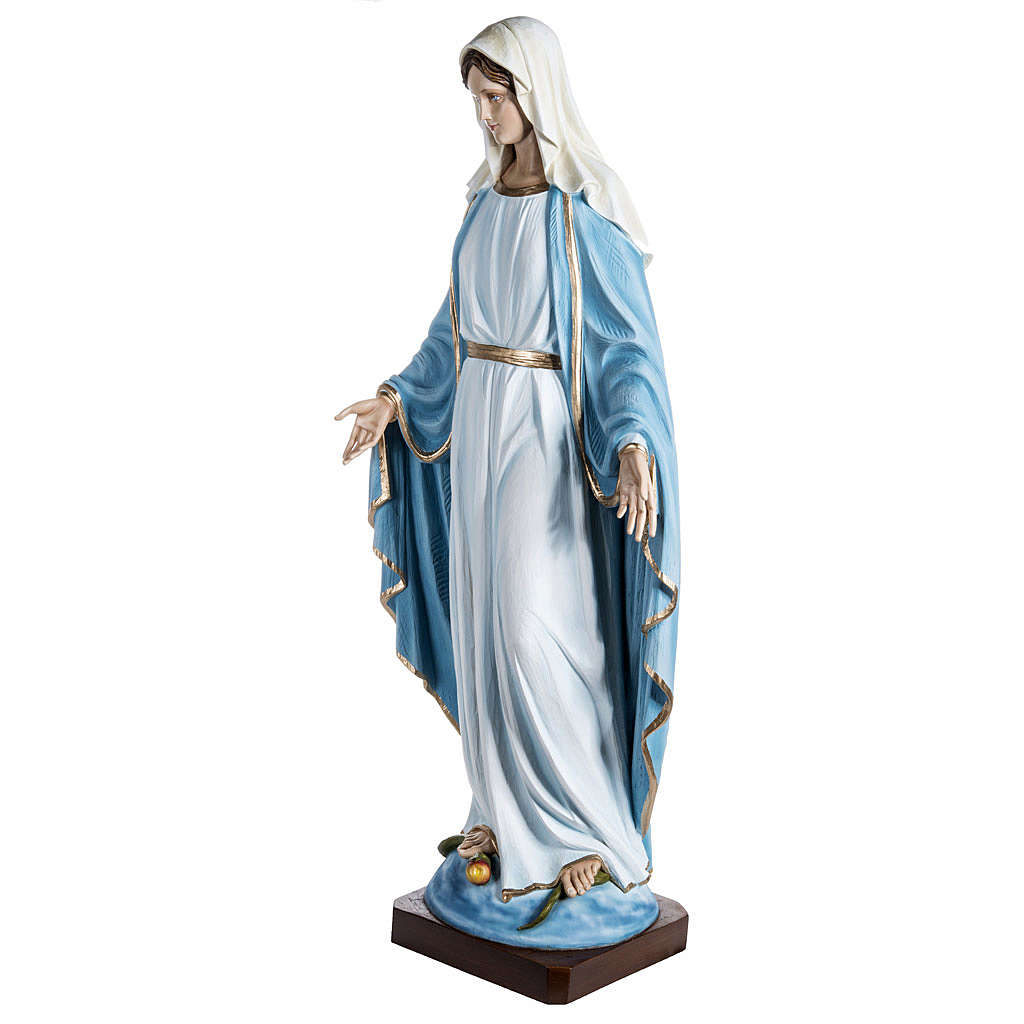 Immaculate Madonna 100cm statue in painted reconstituted marble 4