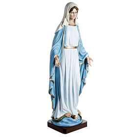 Immaculate Madonna 100cm statue in painted reconstituted marble s2