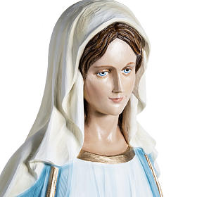 Immaculate Madonna 100cm statue in painted reconstituted marble s7