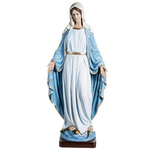 Immaculate Madonna 100cm statue in painted reconstituted marble 1