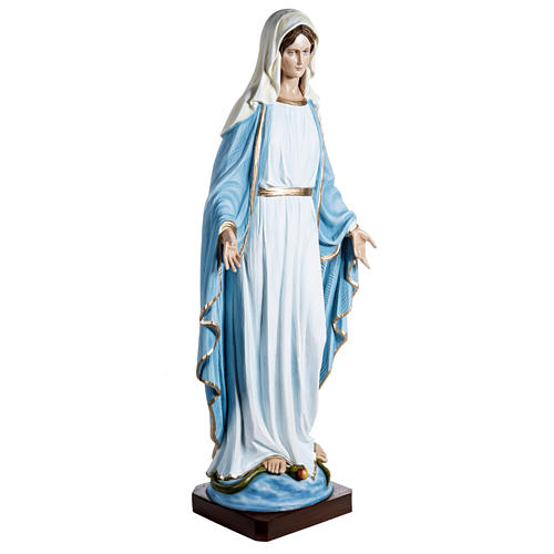 Immaculate Madonna 100cm statue in painted reconstituted marble 2